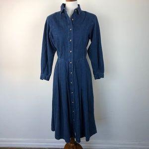 Eddie Bauer Women's Size Small Petite Denim Dress